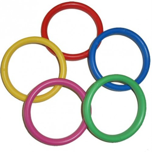 Assorted Colours Plastic Bangle Weights (100ct)