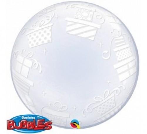 "Wrapped Presents 24"" Deco Bubble"