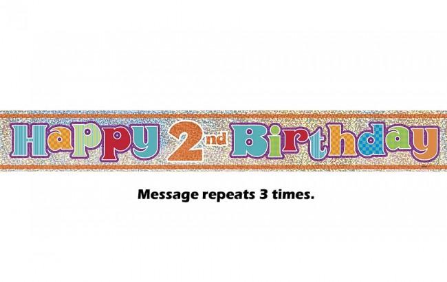 Happy 2nd Birthday Prismatic Banner