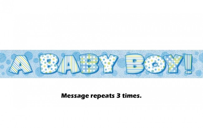 a baby boy prismatic banner 12ft
