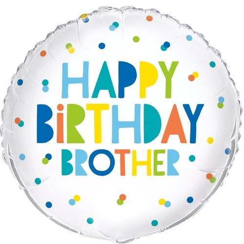 "Happy Birthday Brother 18"" Foil Balloon"