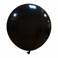 "Black Superior 19"" Latex Balloon 25Ct"