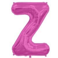"Hot Pink Letter Z Shape 34"" Foil Balloon"