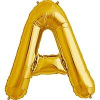 "Gold Letter A Shape 34"" Foil Balloon"