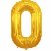 """Gold Letter O Shape 34"""" Foil Balloon"""