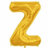 """Gold Letter Z Shape 34"""" Foil Balloon"""