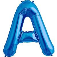 """Blue Letter A Shape 34"""" Foil Balloon"""