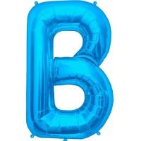 """Blue Letter B Shape 34"""" Foil Balloon"""