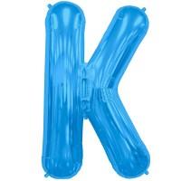 """Blue Letter K Shape 34"""" Foil Balloon"""