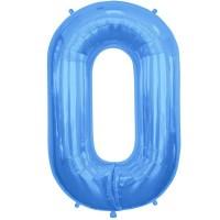 """Blue Letter O Shape 34"""" Foil Balloon"""