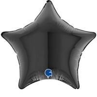 """Star Black 4"""" Foil Balloon (Pack of 10)"""
