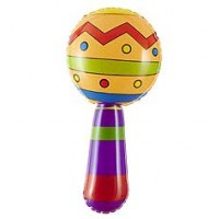 Inflatable Maracas With Jingle Bell 20 Cm