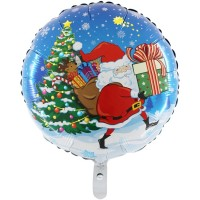 """Christmas Santa 18"""" Foil Balloon packaged w/out card"""