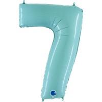 "Number 7 Pastel Blue 40"" Foil Balloon GRABO"