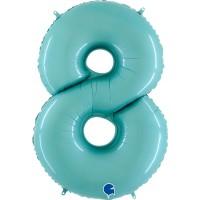 "Number 8 Pastel Blue 40"" Foil Balloon GRABO"