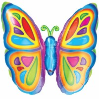 Bright Butterfly SuperShape Foil Balloon
