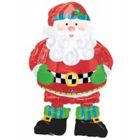 "Whimsical Santa Airwalker 37"" Foil"