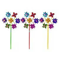 Windmill Foil 19.5cm - 7 Heads Circle - Asst. cols.