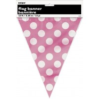 Hot Pink. Dots Flag Banner