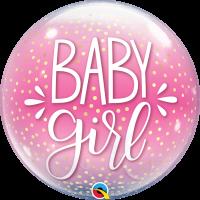 """Pink Baby Girl 22"""" Single Bubble"""
