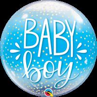 "Blue Baby Boy 22"" Single Bubble"