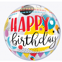 "Happy Birthday Funky Style - 22"" Single Bubble"