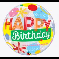 """Funky Happy Birthday 22"""" Single Bubble"""