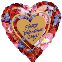 Happy Valentine's Day Photoforal 32inch Foil Balloon