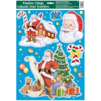 "Christmas Window Clings Sheet - Santa Claus11.75""W x 17""H"