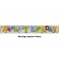 Happy 7th Birthday Prismatic Banner - 12Ft.