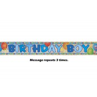 Birthday Boy Prismatic Banner - 12Ft.