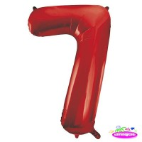 "34"" Red Number 7 Foil Balloon"