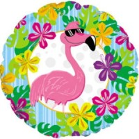"Flamingo - 18"" Foil Balloon"
