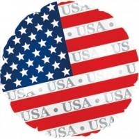 "American Flag Round 18"" Foil Balloon"