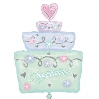 Simply Sparkling Wedding Cake Shape 71cm x 53cm