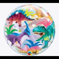 "Colourful Dinosaurs 22"" Single Bubble"