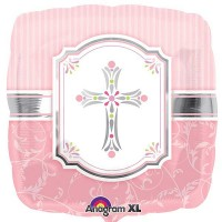 "Blessings Pink - 18"" Foil Balloon"