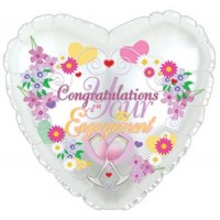 "Congratulations On Your Engagement 18"" Foil Balloon"