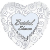 "Bridal Shower Heart 18"" Foil Balloon"
