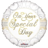 "On Your Special Day - 18"" foil balloon"