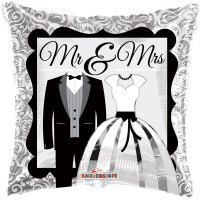 "Mr and Mrs Balloon - 18"" Foil Balloon"