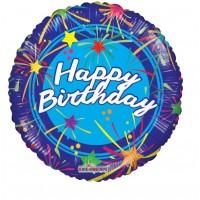 "Happy Birthday Fireworks 18"" Foil Balloon"