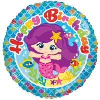 "Happy Birthday Mermaid - 18"" Foil Balloon"