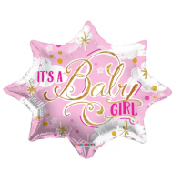 """It's A Girl - Pink and Gold 18"""" Foil Balloon"""