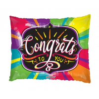 """Congrats To You Colourful 36"""" Supershape"""