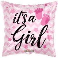 "Pink It's A Girl 18"" Foil Balloon"