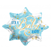 """It's A Boy - Blue and Gold 18"""" Foil Balloon"""