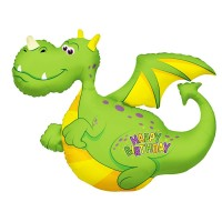 "Happy Birthday Dragon 36"" Foil Balloon"
