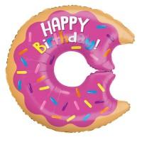 "Doughnut Happy Birthday 28"" Foil Balloon"