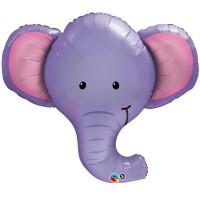 "Ellie The Elephant 39"" Shape Foil Balloon"